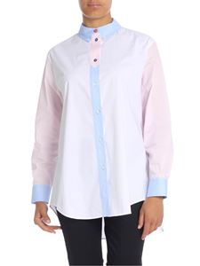 Paul Smith - Cotton shirt in white pink and blue