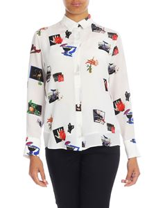 Paul Smith - Paul's Scrapbook printed shirt in white