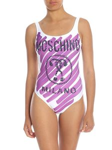 Moschino - Brushstroke Duble Question swimsuit