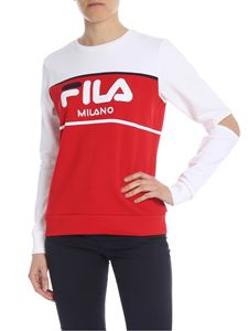 Fila - Red and white Fila sweatshirt with cut-out