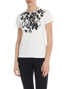 Liujo - T-shirt in white with black print