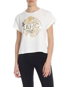 Liujo - Boxy T-shirt with golden LiuJo print