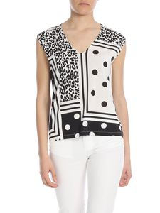 Liujo - Top with animal print and polka dot