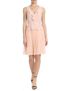 Liujo - Flower embroidered lace dress in pink