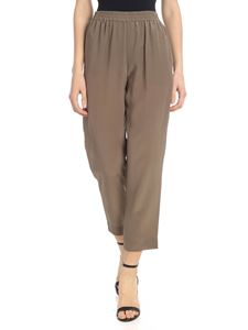 Gianluca Capannolo - Mud-colored pure silk trousers