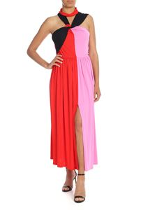 MSGM - Colorblock dress with woven neckline
