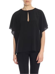 Blugirl - Blouse with drop neckline in black