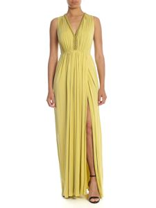 Elisabetta Franchi - Long dress in green with chain