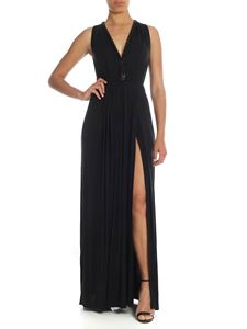 Elisabetta Franchi - Long dress in black with metal chain