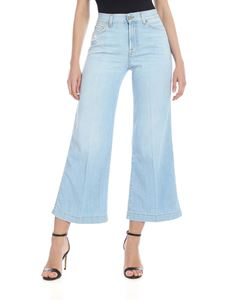 7 For All Mankind - Cropped Lotta Jeans in light blue