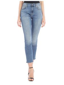 7 For All Mankind - Sanded Skinny Relaxed jeans in blue