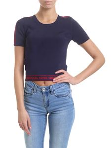 Michael Kors - Blue cropped top with logo bands
