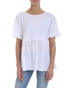 KI6? Who are you? - Cotton T-shirt with ruffles