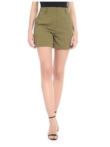 Michael Kors - Olive green woven shorts