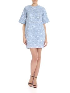 Michael Kors - Dress with light blue tie-dye motif