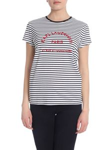 Karl Lagerfeld - Black and white striped T-shirt with logo