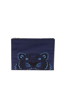 Kenzo - Tiger A4 clutch in blue