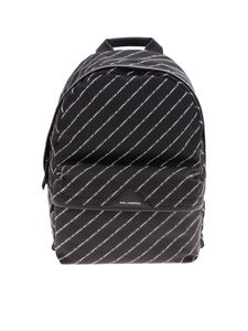 Karl Lagerfeld - K/Stripe monogram backpack in black