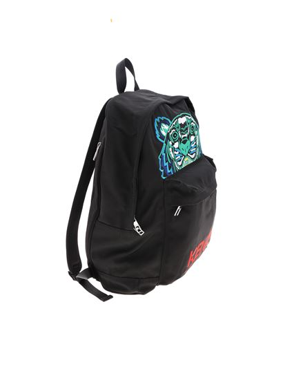 73d0e422ade Kenzo Spring Summer 2019 tiger large backpack in black - 5SF306 F20 99B