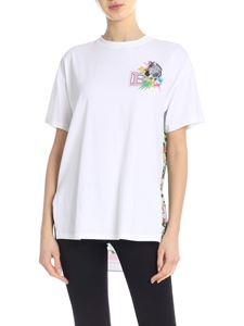 Ermanno by Ermanno Scervino - T-shirt bianca con stampa floreale