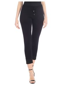 Kangra Cashmere - Black knitted trousers with lamè thread