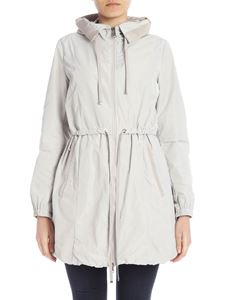 Moncler - Topaz overcoat in beige with drawstring