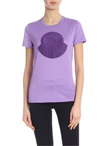Moncler - Purple T-shirt with Moncler logo