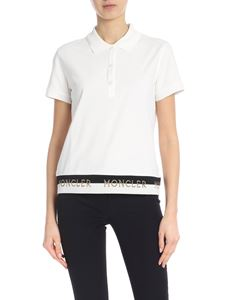 Moncler - White polo with branded edges