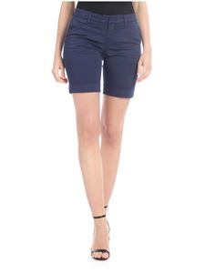 Fay - Blue bermuda shorts with turned-up bottom
