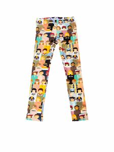 Fendi Jr - Leggins stampa multicolor
