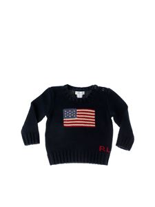 POLO Ralph Lauren - Pullover in blue with flag