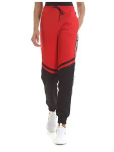 Gaelle Paris - Pants in black and red with logo bands