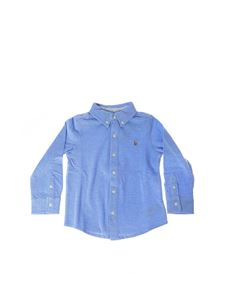 POLO Ralph Lauren - Button-down shirt in light blue and white