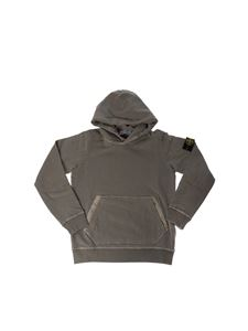 Stone Island Junior - Hoodie in gray with logo