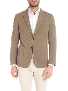Fay - Light brown jacket with patch pockets