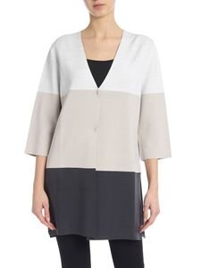 Kangra Cashmere - Colorblock grey cardigan