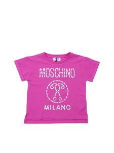 0786e6ab4a50a Moschino Kids - Double question mark T-shirt in pink