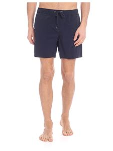 Moncler - Dark blue swimsuit with drawstring