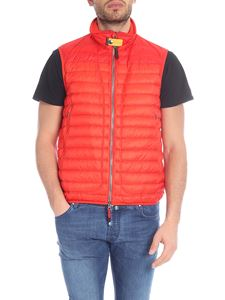 Parajumpers - Sully sleeveless down jacket in orange red