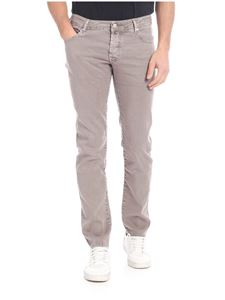 Jacob Cohën - Linen and stretch cotton trousers in dove grey