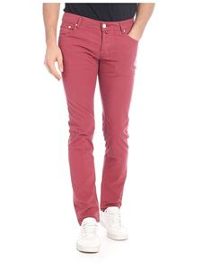 Jacob Cohën - Stretch cotton trousers in red