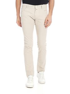Jacob Cohën - Stretch cotton trousers in beige
