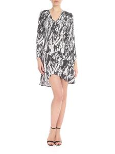 Patrizia Pepe - Hands Up motif dress in gray and white