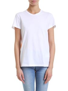 N° 21 - T-shirt in white with embossed logo