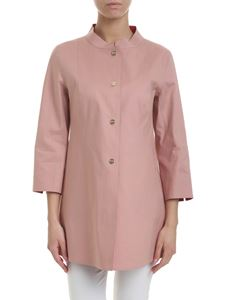 Herno - Double face overcoat in antique pink and red