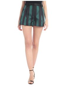 N° 21 - High waist shorts in green with black stripes