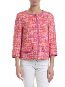 Herno - Bouclé jacket in pink and orange