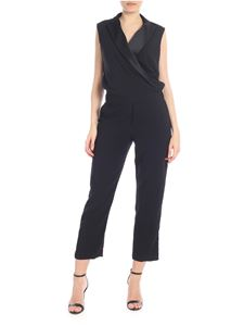 Parosh - Black sleeveless jumpsuit