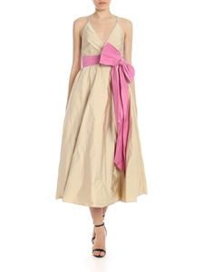 N° 21 - Dress in beige with pink maxi bow