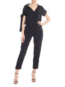 Parosh - Black jumpsuit with bow detail